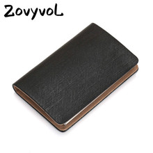 ZOVYVOL Metel Leather Business Card Case Fashion Men And Women Name Holder Waterproof Wallet Creative Large Capacity