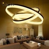 LICAN DIY Modern LED Pendant Light For Dining Living Room Hanging Circel Rings Suspension Luminaire Pendant