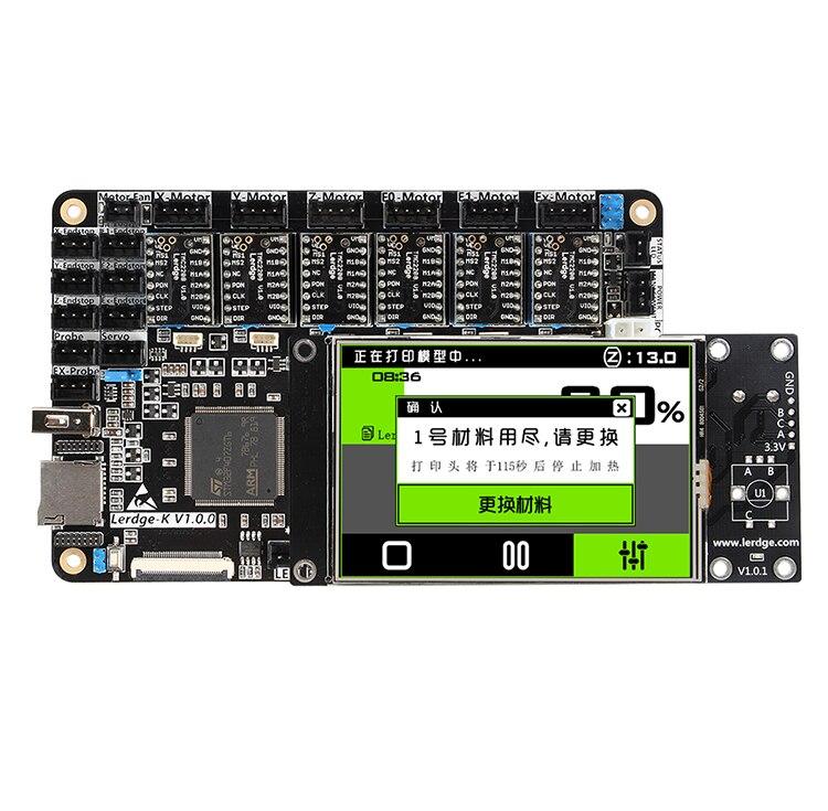 LERDGE 3D imprimante conseil ARM 32Bit contrôleur carte mère pour imprimante 3d contrôle carte mère écran tactile Kit bricolage NTC100K PT100