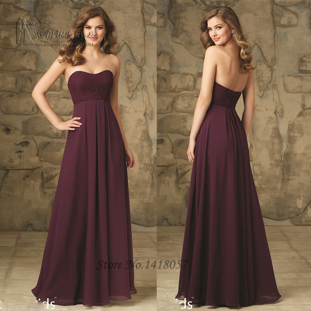 robe demoiselle d 39 honneur girls purple bridesmaid dresses for weddings lace empire sleeveless