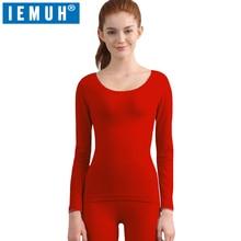 IEMUH New Winter Thermal Underwear Sets Women Brand Anti-microbial Stretch Women's Thermo Underwear Female Warm Long Johns Slim