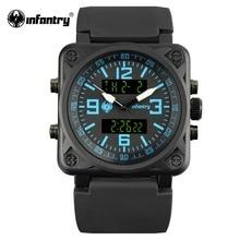 Мужские часы в Военном Стиле, цифровой светодиодный, наручные часы для мужчин, s часы, лучший бренд, роскошные армейские квадратные тактические часы, Relogio Masculino