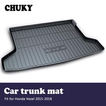 CHUKY For Honda Vezel 2015 2016 2017 2018 Car Cargo rear trunk mat Styling Boot Liner Tray Waterproof Anti-slip mat Accessories