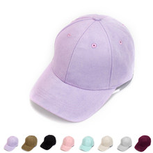 Novo ajustável unisex camurça boné de beisebol curvo aba chapéu cor sólida esportes ao ar livre chapéu chapéu de inverno