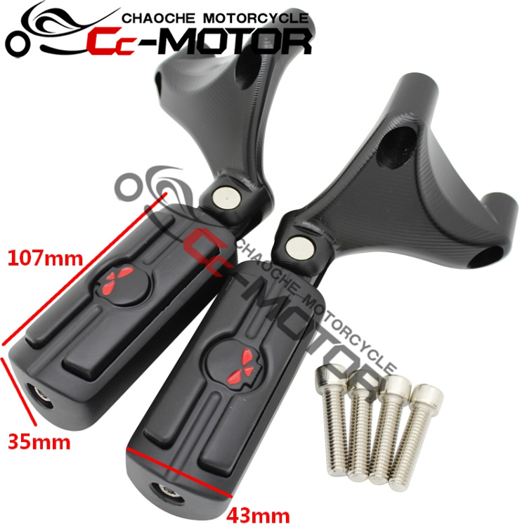 Rear Passenger FootPegs Mount Kit Black For Harley XL883/1200 X48 2004 2013