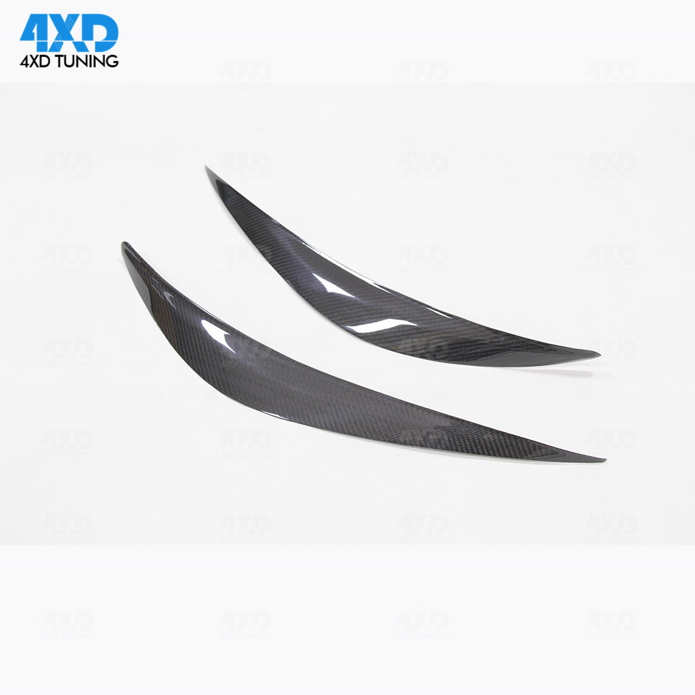 Q50 HeadLight Dry Carbon EyeLid Trim Cover Lamp eyebrow hood For Infiniti Q50S front bumper styling2014