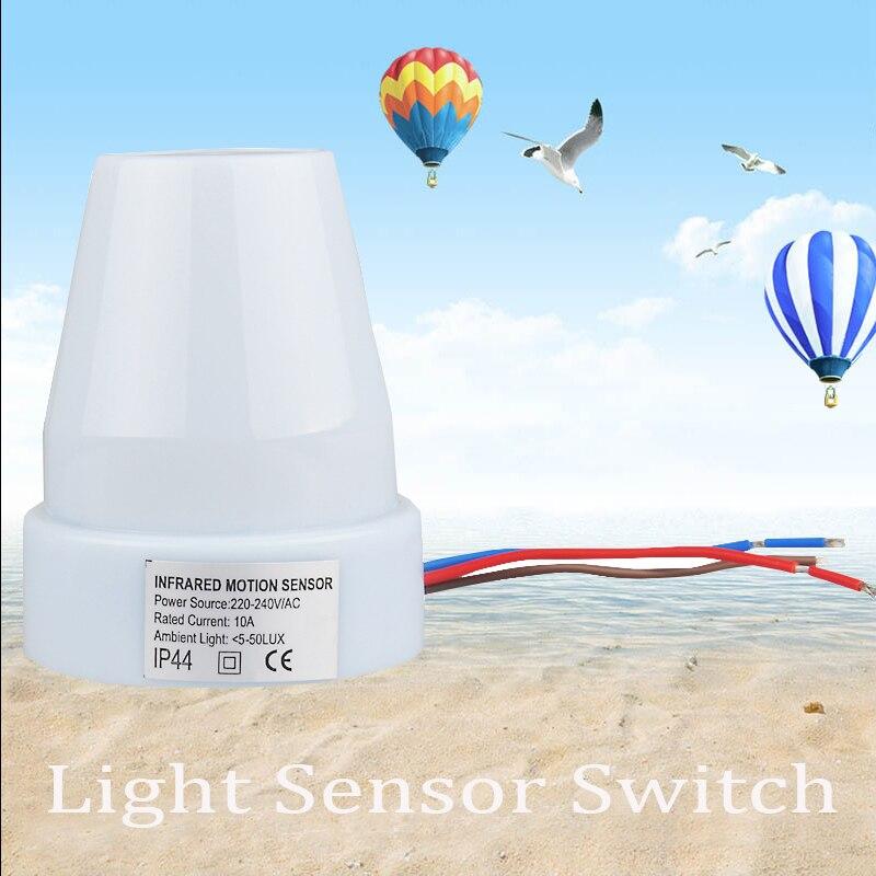 Hochwertige Outdoor Wand Einstellbar 220 V 240 AC Automatische Lichtsteuerung Sensor Schalter Fr