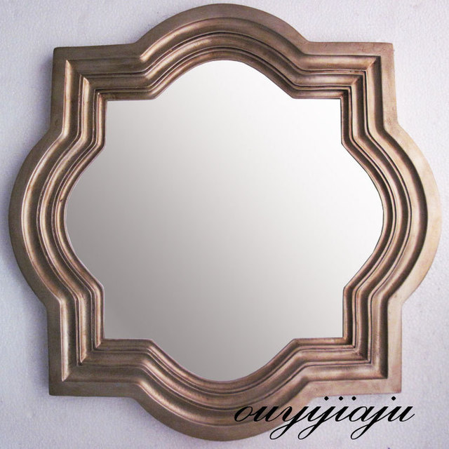 large big resin decorative cosmetic antique wall mirror with frame ...