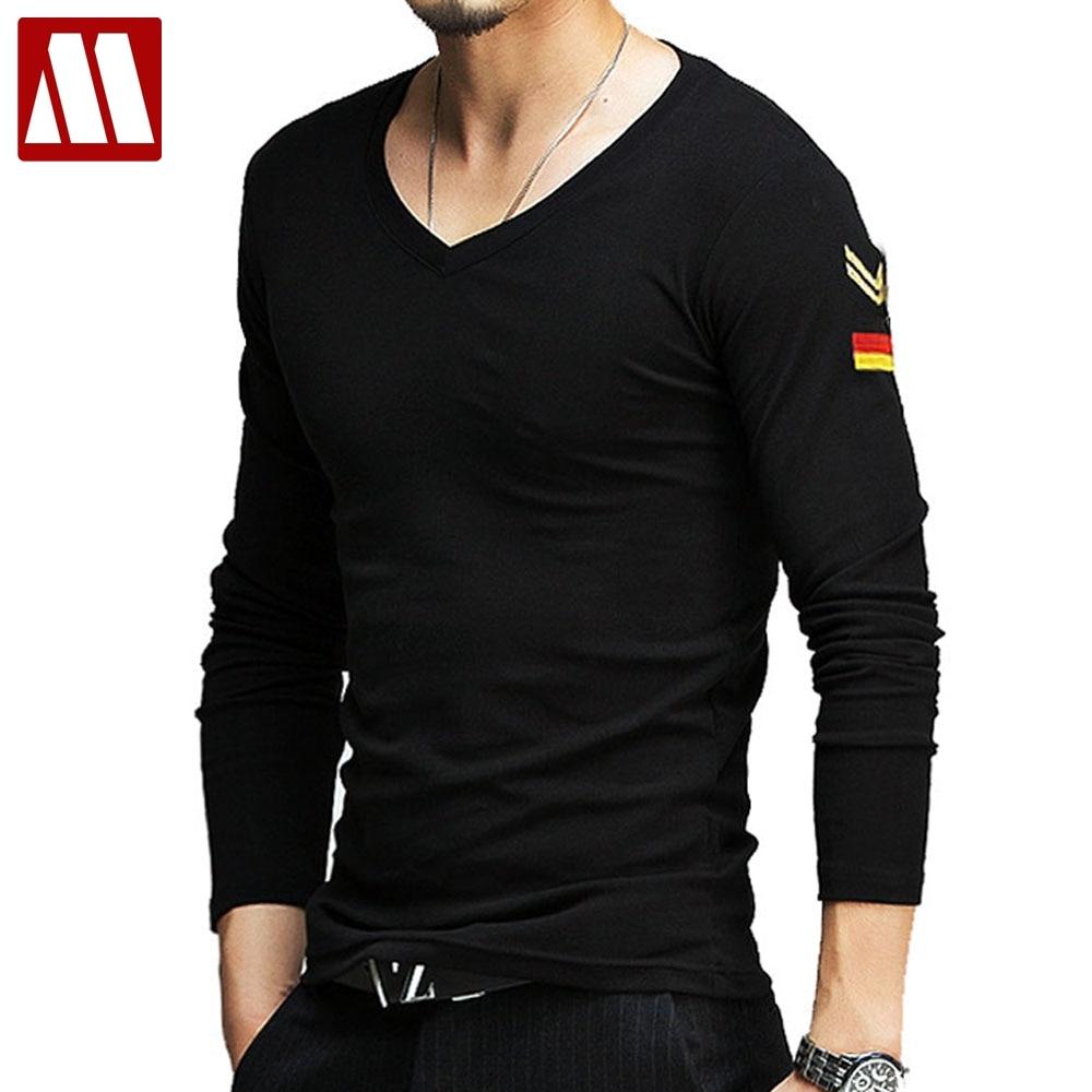 MYDBSH brand mens military t shirts summer casual long ...