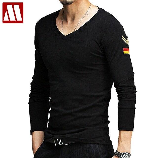 489fd2d3e5 MYDBSH marca mens camisas militares t verão casual manga comprida homens t  shirt de algodão homens