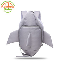 Rainbow Baby 3D Model Shark Kids & Babys Bags Anti Lost School Bags for 2 8 Years Boys and Girls Waterproof Backpack