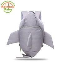 Rainbow Baby 3D Model Shark Kids & Babys Bags Anti Lost School Bags for 2 8 Years Boys and Girls Waterproof Backpack