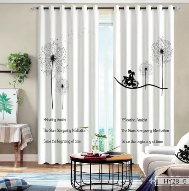 Window Dandelion 3D Curtain Living Room Modern Home Goods Window Treatments Polyester Printed 3d Curtains For Bedroom Window Dandelion 3D Curtain Living Room Modern Home Goods Window Treatments Polyester Printed 3d Curtains For Bedroom