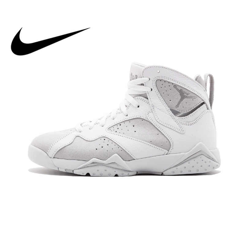 Оригинальные аутентичные NIKE Air Jordan 7 Ретро AJ1 мужские баскетбольные  кеды спортивная обувь DXM нитки Спорт 42395b39dd9