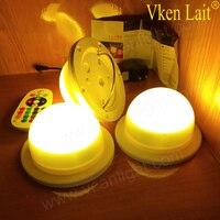 5PCS/lot DHL 48 LEDS Free Shipping 6W 16 Color LED RGB Magic spot Light Bulb Lamp Wireless Remote Control