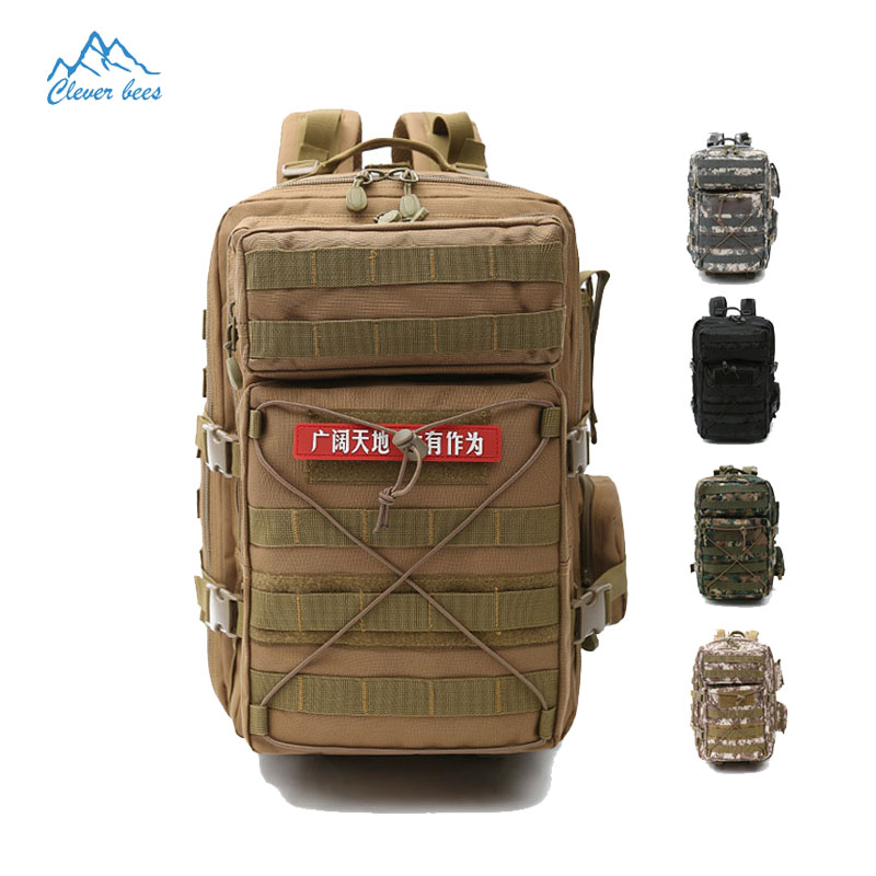 Brand Outdoors mountaineering bag Men Rucksack camping pack Camouflage shoulder bags Tactical backpack travel waterproof packs 35l tactics nylon double shoulder bag outdoors backpack waterproof mountaineering travel bag man riding assault bac for men
