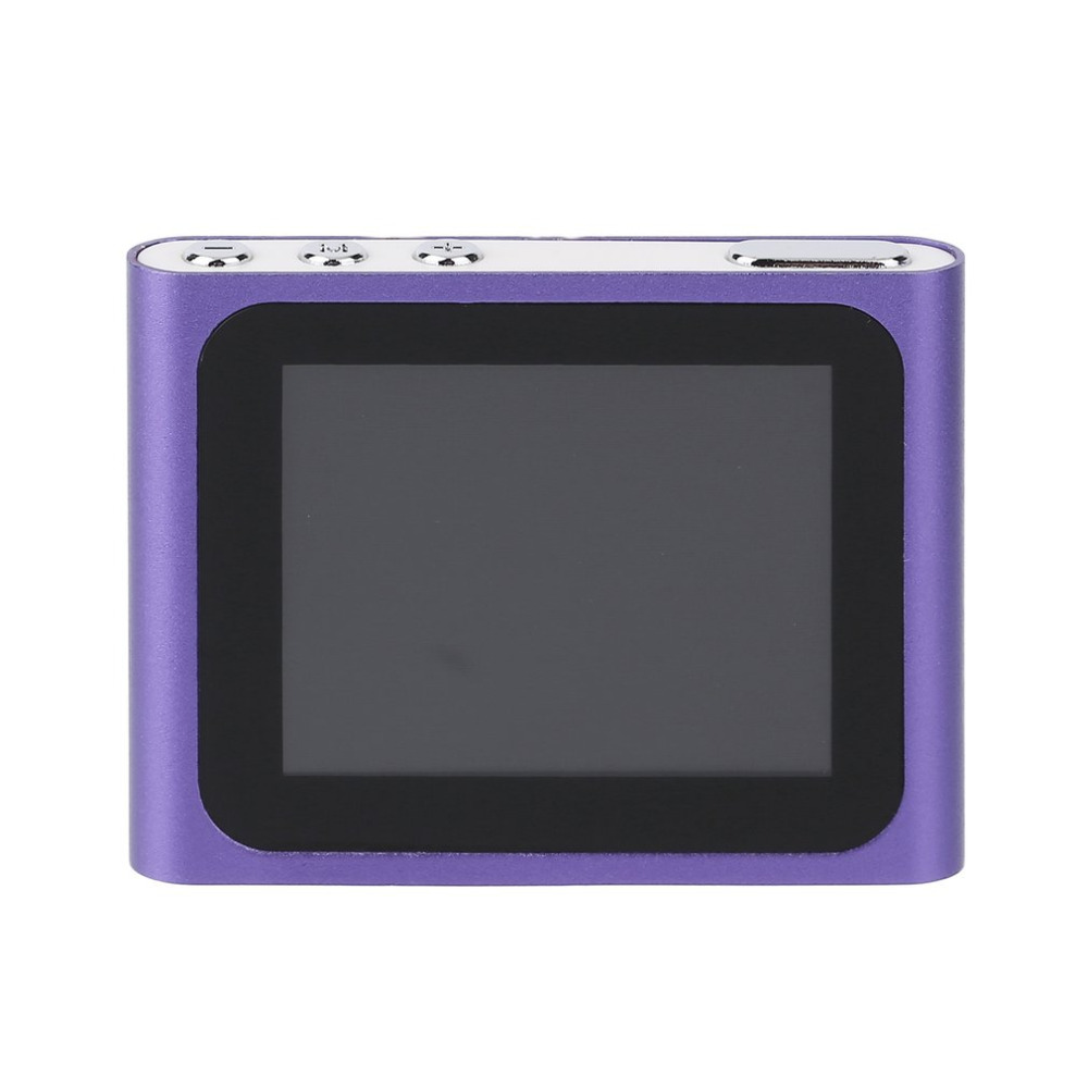 Portable Size 1.8 Inch LCD Screen Display 6th Generation Music Media Video Movie FM Radio MP4 Player Easy Carry Hot Sale