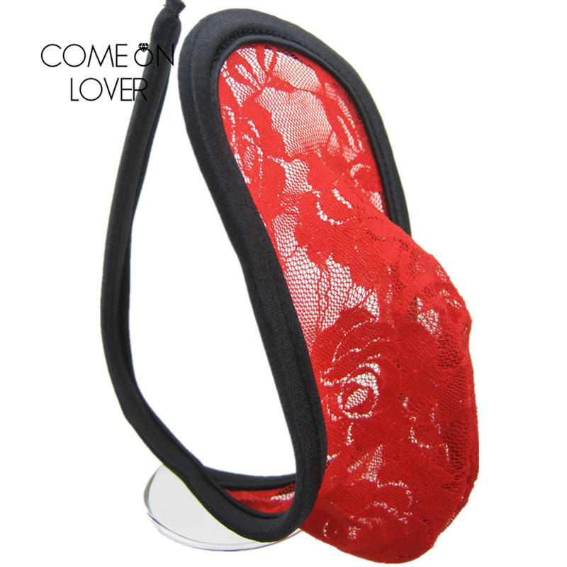 PM9 Comeonlover high quality c-string one size man sexy c-string hot sexy c-String thongs panties lace flower floral Lingerie