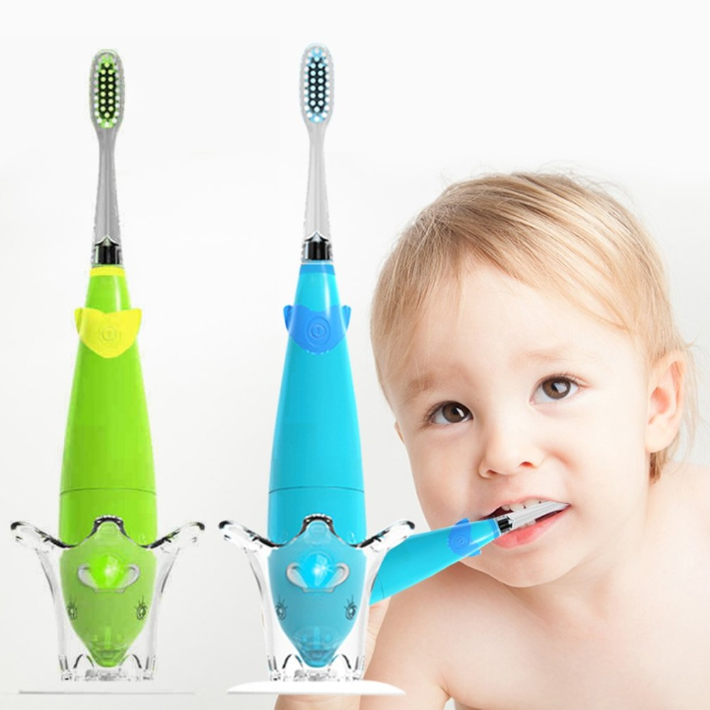 Seago Kids Musical Sonic Toothbrush Two Minutes Remind Teeth Brush For Children With LED Light Lovely Dolphin Shape Handle