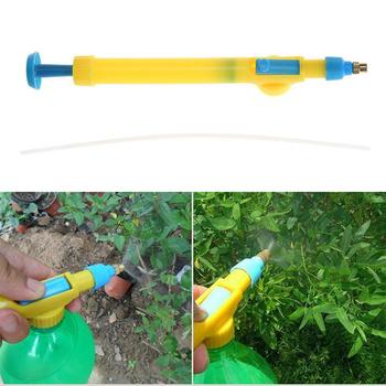 Wózek z tworzywa sztucznego pistolet pistolet Mini butelki na wodę głowica rozpylająca ogród bonsai opryskiwacz ciśnieniowy rozpylanie pestycydów głowy narzędzia rolnicze tanie i dobre opinie Opryskiwacze Pressure Type Water Pesticide Spraying Sprayer as picture plastic 29 00*3 00*4 00cm 30cm yellow and blue Water spray