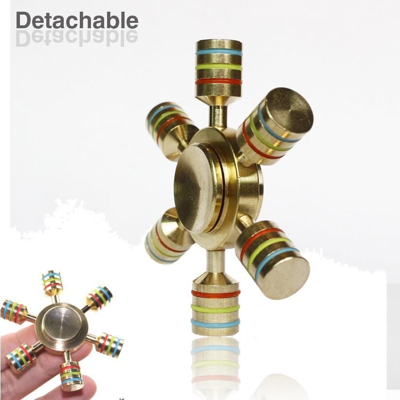Hand Spinner 100 Brass fidget toy Hexagonal Metal fidget spinner edc finger Spinner Hand relieves stress