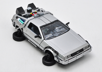 1 12 Scale Model Cars   Back To The Future Fly Version 1/24 Scale Metal Alloy Car Diecast Model  Part 2 1 3 Time Machine DeLorean DMC-12 Model Toy