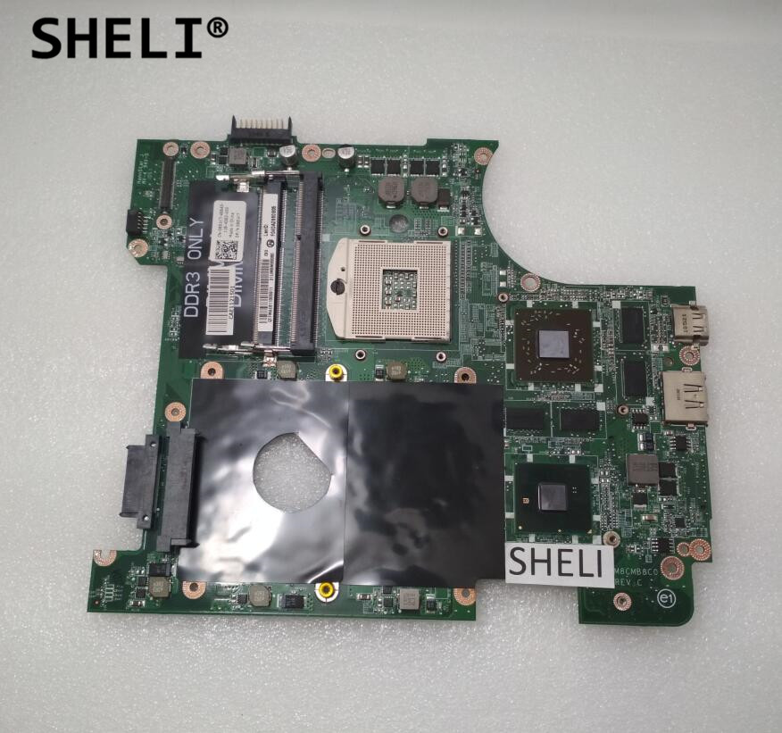 SHELI For Dell N4010 Motherboard with HD5650M DAUM8CMB8C0 CN-0951K7 0951K7 951K7 sheli for dell 1645 motherboard with hd 4670 1gb da0rm5mb8e0 cn 0y507r 0y507r y507r
