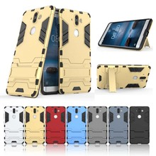 With Bracket Function For Nokia 8 Nokia8 Case Cover Anti-knock Silicone Armor Tough Cover Cases Shell For Nokia 8 Guard