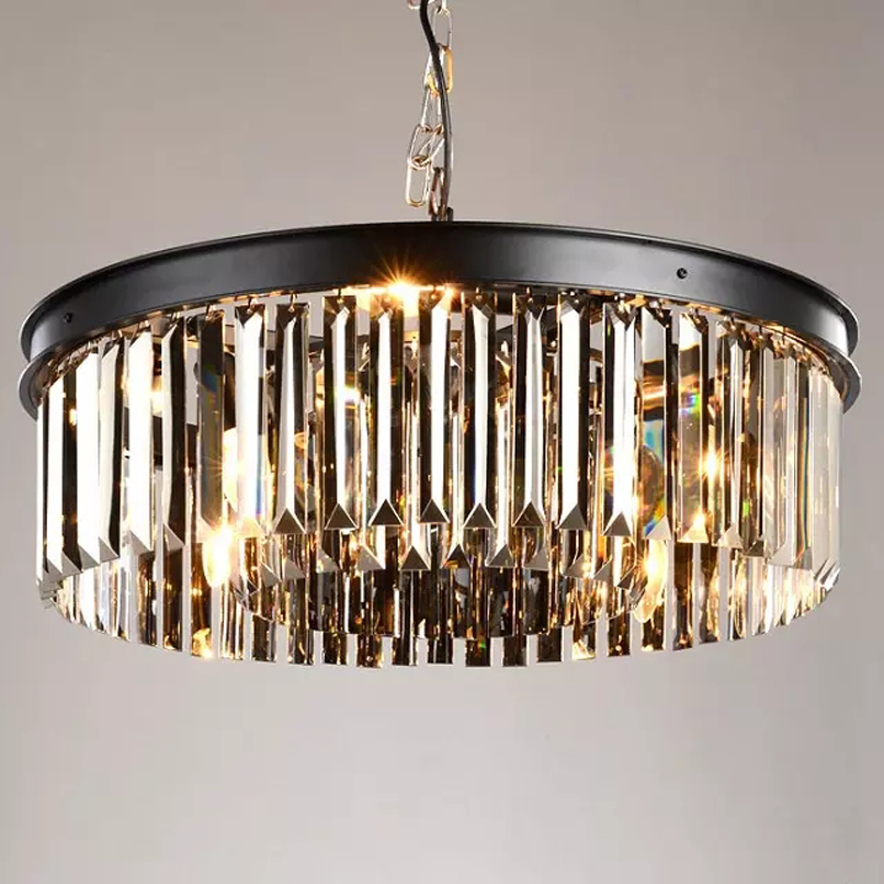 Free Shipping Classic Crystal Pendant Light Black Painting Clear Crystal Pendant Lamp for Living Bed Dinning Room Retro Lamp ark light wicker sepa takraw pendant lamp free shipping pendant lamp pendant lightwith cane shades for dinning room sitting room