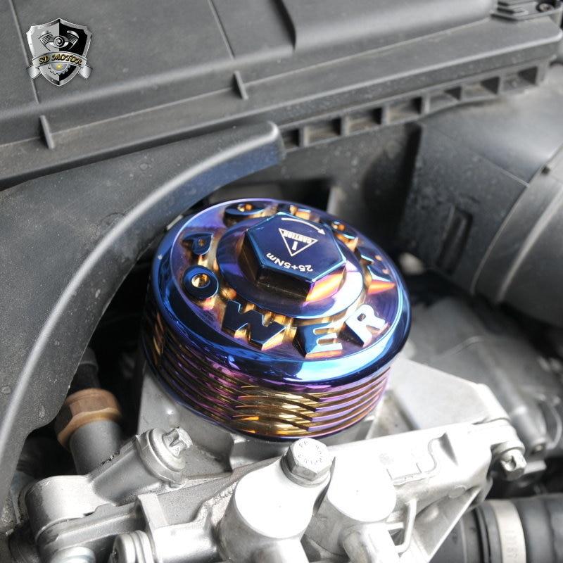 SD MOTOR mojo power Heatsink CNC Aluminum Oil Filter Cover Cap for BMW N20 N26 N51 N52 N53 N54 N55 S55 Titanium Coating