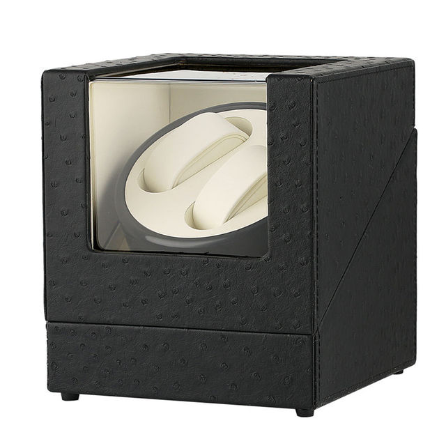 US/UK/AU/EU Plug Automatic Mechanical Watch Winders Black Deluxe Faux Suede Interior 2 Watches Silent Motor Display Storage Box | Watch Boxes