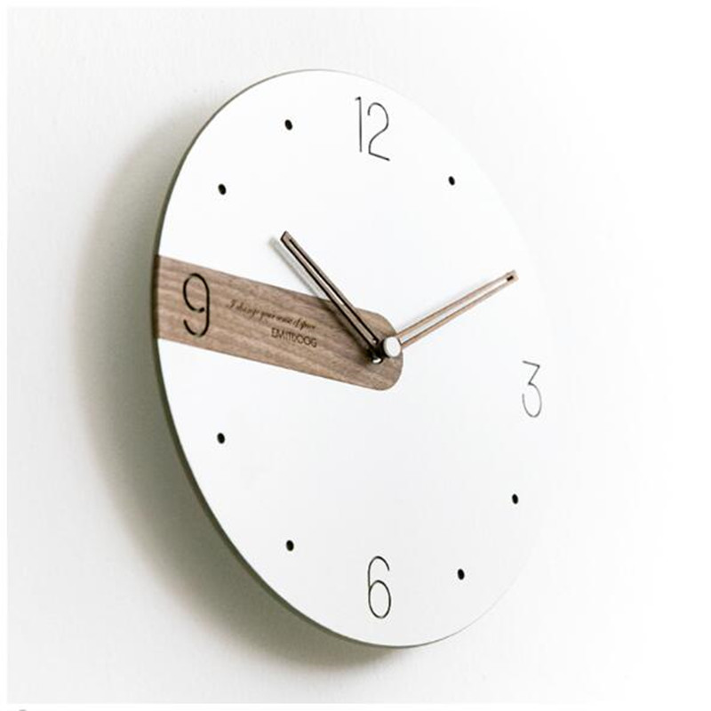 Moderna Semplice Nordic Leggero e di Lusso Orologio Artisti usano orologi di legno Creativo orologi di moda - 3