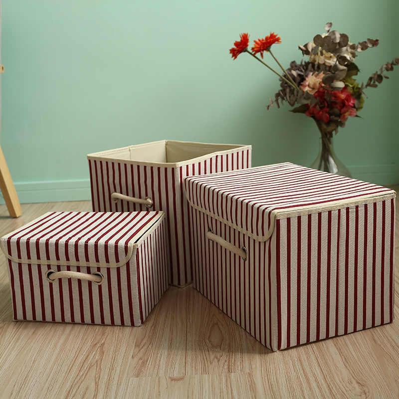 2019 Nova dobrável Não-tecido tecidos roupa organizadores caixa de armazenamento para as crianças brinquedos cesta de armazenamento de artigos diversos caixas de Organização de escritório