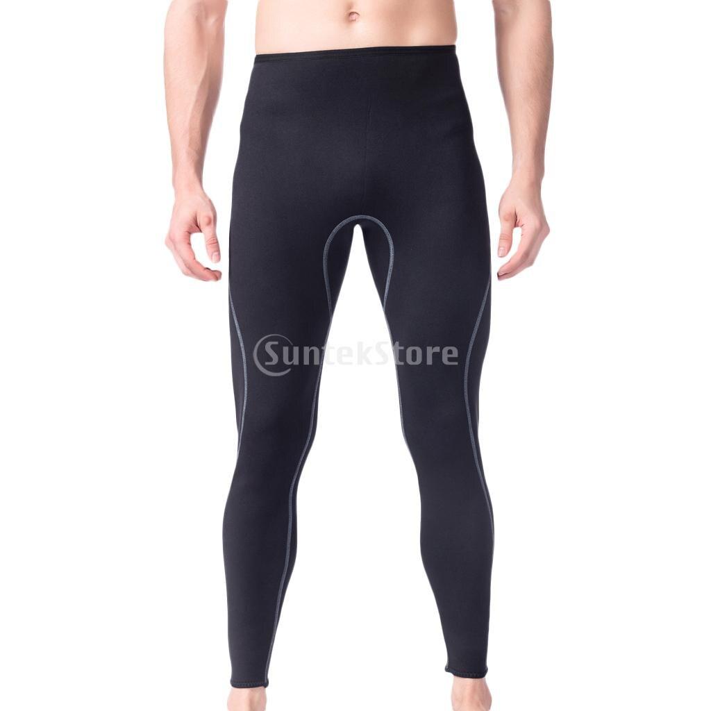 Men 3mm super estiramento neoprene wetsuit calças de surf mergulho mergulho leggings calças quentes esportes aquáticos natação collants