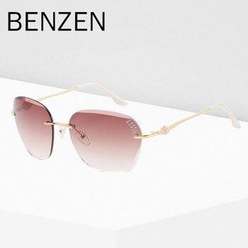 Comprar ahora BENZEN gafas de sol de lujo mujer elegante sin montura ...