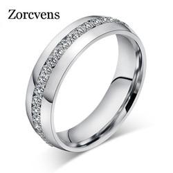 ZORCVENS 2020 nouvelle mode cristal anneaux pour femmes couleur or couleur acier inoxydable bijoux cadeaux