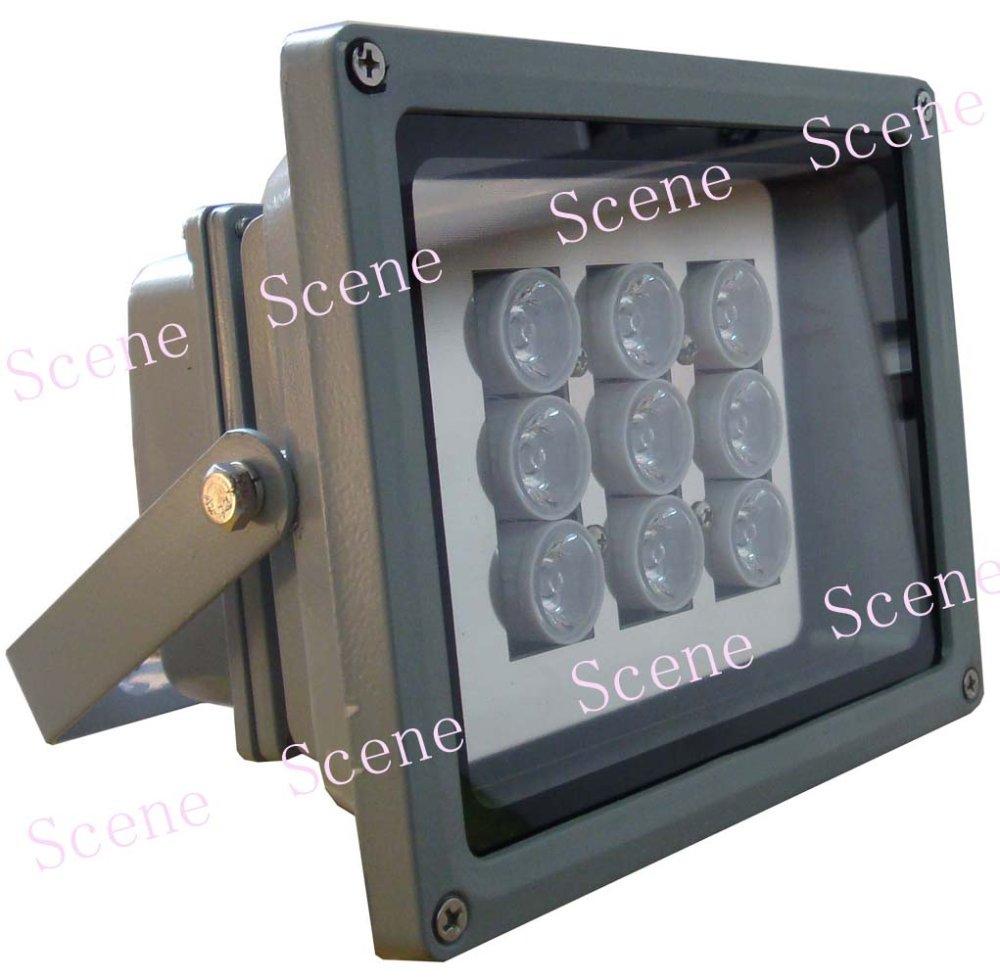 Высокой мощности ИК-осветитель , инфракрасная Лампа, невидимый ИК свет с алюминиевой материала и ночного видения источники света