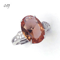 CSJ Zultanite Ring 10*14MM Sterling 925 Silver Created Zultanite Color Change Fine Jewelry Women Wedding Engagement Party Gift