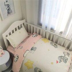 3 pz set di biancheria da letto del bambino molti di disegno 100% dei bambini del cotone set di biancheria da letto per bambino appena nato, copripiumino/Copriletto/Copertura del Cuscino,