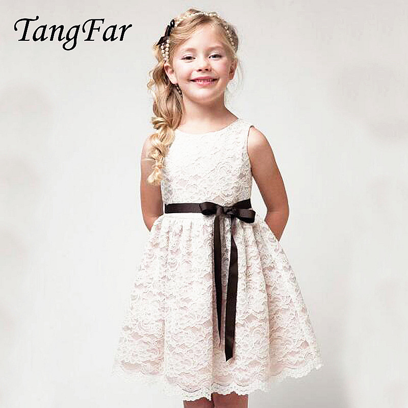Hollow Lace Dresses For Big Girl 2018 New Year Lolita Sleeveless Dress High Quality White Beige Black 3-11 Years material girl new beige black hieroglyphic printed dress msrp $44 dbfl