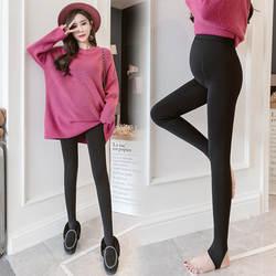 Зимние довольно Леггинсы для беременных Для женщин Брюки Зимняя бархатная одежда для беременных Высокая Талия утепленные брюки для