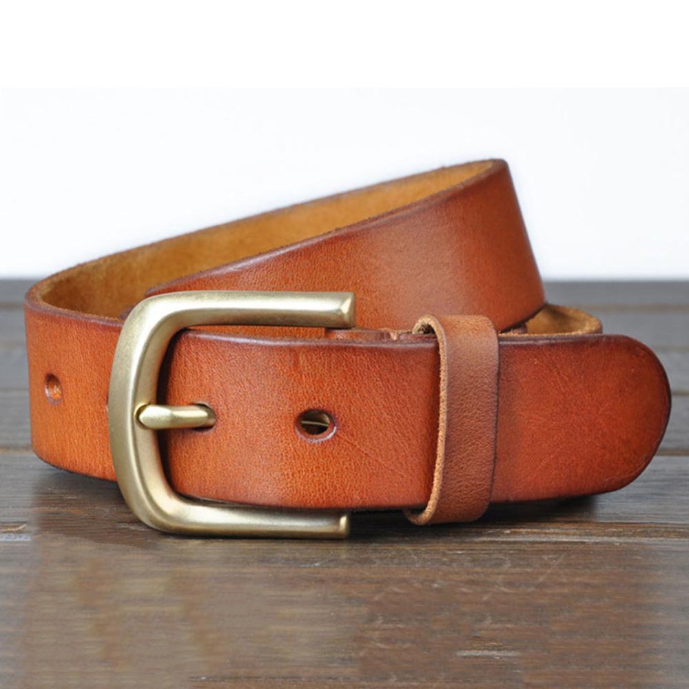 Image 2 - FAJARINA 3.8cm Wide Top Quality Men's Retro Styles Man Fashion Genuine Leather Men Pin Buckle Belts for Men Leather Belt NW0033-in Men's Belts from Apparel Accessories