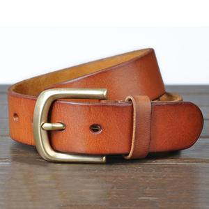 Image 2 - FAJARINA ceintures à boucle ardillon en cuir véritable pour homme, 3.8cm de large, Styles rétro, à la mode, NW0033