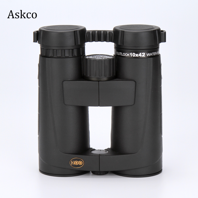 Фото Askco brand 10X42 HD nitrogen waterproof BAK4 birdwatching hunting binoculars telescope fogproof with green film Free shipping