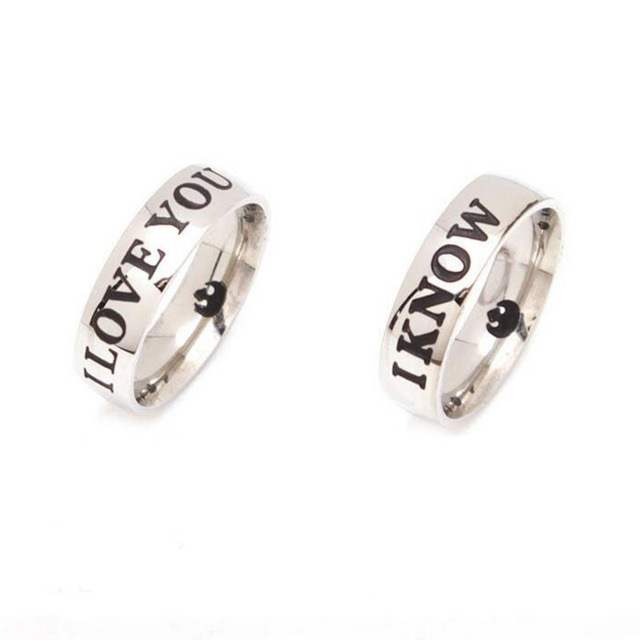 Star Wars Couple Ring – I love you, I know