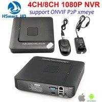 New 4CH MINI 1080P NVR Security Standalone CCTV IP Camera 8CH HD 1080P NVR Video Recorder