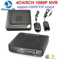 New 4CH MINI 1080P NVR Security Standalone CCTV IP Camera 8CH HD 1080P NVR Video Recorder