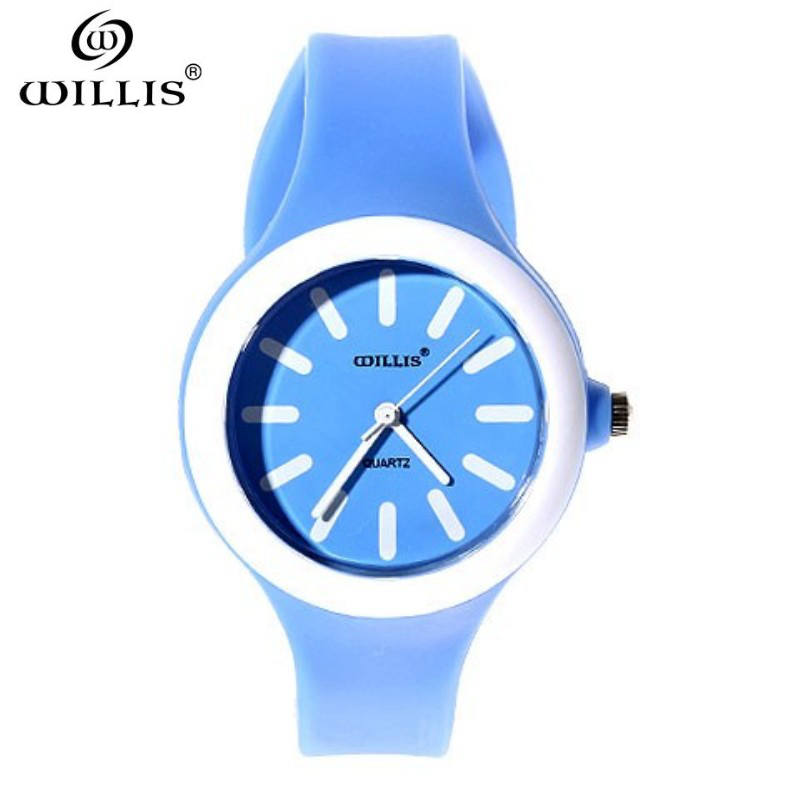 WILLIS New Famous Brand Silicone Quartz Watch Women Jelly Casual Dress Watches Relogio Feminino Waterproof Clock Watch Hot Sale