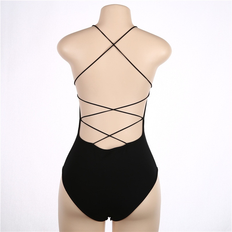 Women's Clothing Responsible Rompers Backless Strap Women Slim Playsuits Tops Jumpsuit Sexy Lace Up Black Bodysuit Short Romper Overalls Ladies