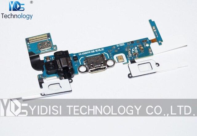 1 unids original para samsung galaxy a5 sm-a500 a500f puerto micro usb de carga conector dock flex ribbon cable piezas de repuesto